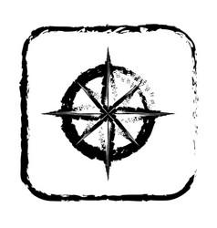 contour symbol compass icon vector image vector image