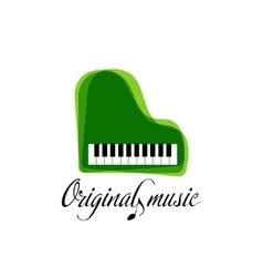 Green music piano logo Jazz logo Color music vector image
