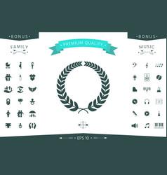 laurel wreath for yor design vector image