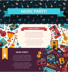 modern flat design decorative invitation flyer t vector image