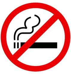 No smoking sign vector image vector image