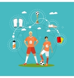 Soccer player with equipment Sport concept vector image vector image