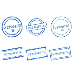 Vitamin B2 stamps vector image