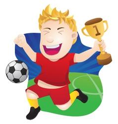 Winner Playing Soccer vector image