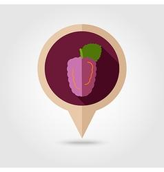 Blackberry bramble flat pin map icon Berry fruit vector image