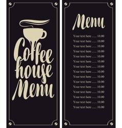 coffee house menu vector image vector image