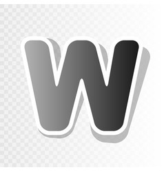 letter w sign design template element new vector image