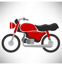 Red Bike Silhouette vector image