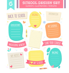 set of empty templates and speech bubbles vector image vector image