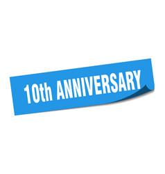10th anniversary sticker 10th anniversary square vector