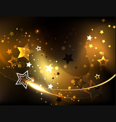 Abstract background with golden stars vector