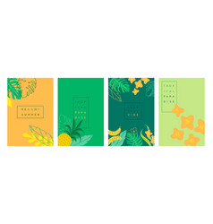 Abstract tropical banner summer background vector