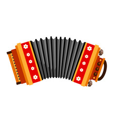 Accordion folk musical instrument vector