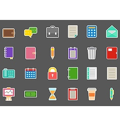 Accounting stickers set vector image