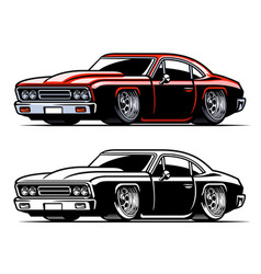 American vintage muscle car vector