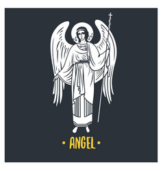 Angel god vector