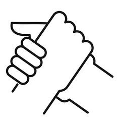 Arm wrestling partner icon outline style vector