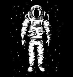 astronaut spaceman in suit vector image