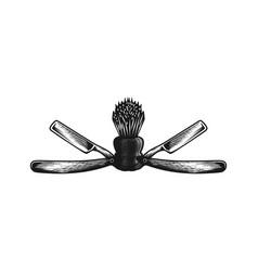 barber logo design inspiration vector image
