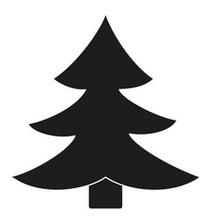 black and white fir tree silhouette vector image