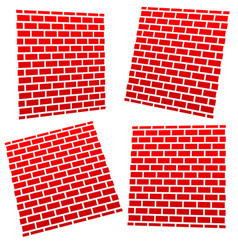 brickwalls in different perspective vector image