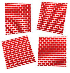 brickwalls in different perspective vector image