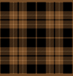 brown and black tartan plaid seamless pattern vector image