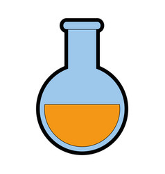 Chemical flask icon vector