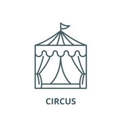 circus line icon circus outline sign vector image