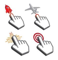 Click Hand Symbol Design vector