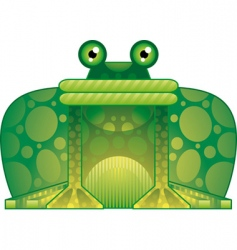 colorful frog vector image