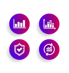 Confirmed diagram graph and report diagram icons vector
