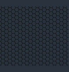 Dark gray technology hexagon honeycomb seamless vector