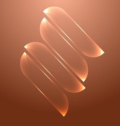 Design orange glass banners set vector