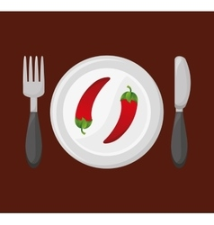 dish with vegetable menu vector image
