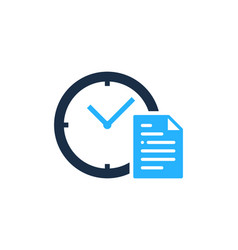 document time logo icon design vector image