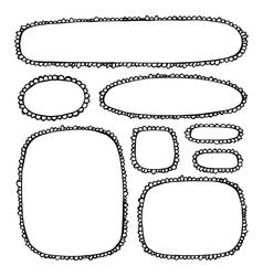 Doodle border frames set vector