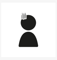 emotion anime icon sad in simple black design vector image