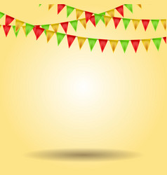 Empty background with carnival flags vector