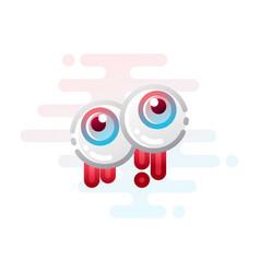 eyes linecolor vector image