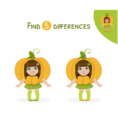 find differences educational game for kids cute vector image