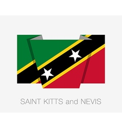 Flag of Saint Kitts and Nevis Flat Icon vector