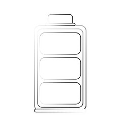 full battery symbol vector image