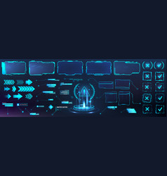 Futuristic frame border in hud style for gui ui vector