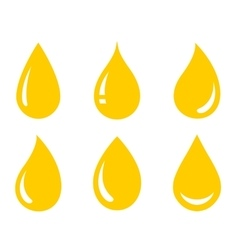 glossy oil drops set vector image