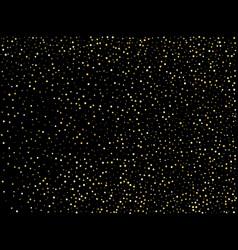 Golden glitter sparkle bubbles champagne particles vector