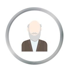 Gray beard icon cartoon Single avatarpeaople vector image