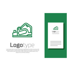 green line electric planer tool icon isolated vector image