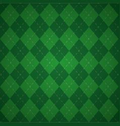 green plaid check cloth vector image