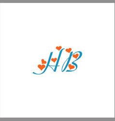 H b letter logo design on black color background vector